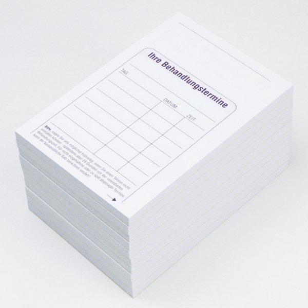 Block Termin-Vereinbarungen, 10 Stück