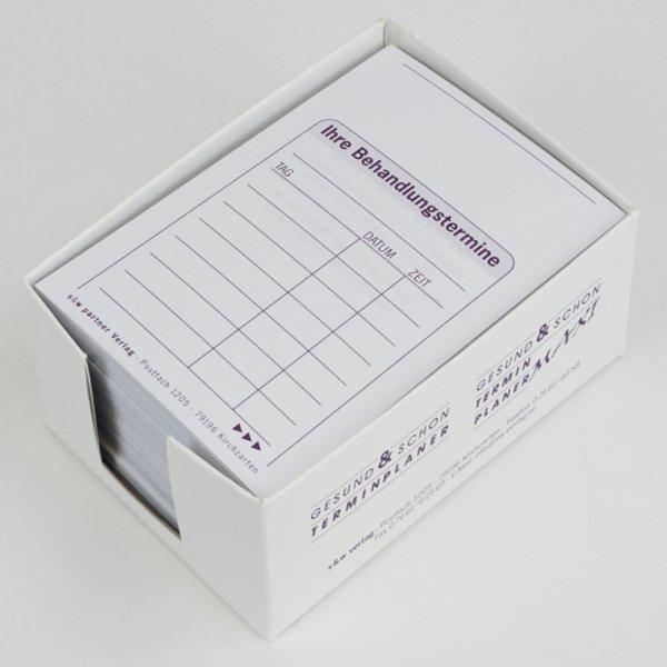 Terminzettel 250 SD-Sätze / Spender-Box