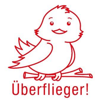 "Siebdruck-Stempel ""Perpetuum"", Vogel ""Überflieger!"""