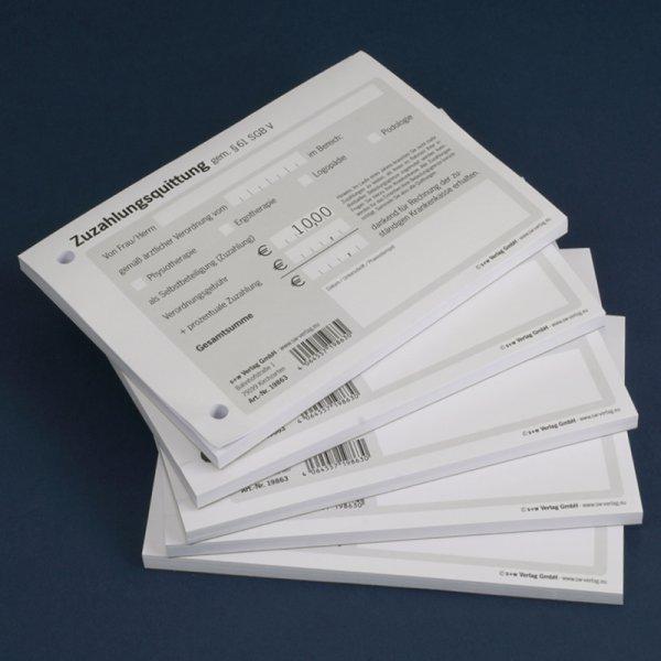 Zuzahlungsquittung, 5er Pack